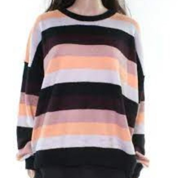Double Zero Striped Pullover Sweater, NWT Large